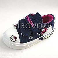 Детские кеды для девочки Hello Kitty синие 20р. 7832ee372a299