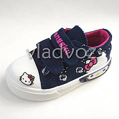 Детские кеды для девочки Hello Kitty синие 19р.