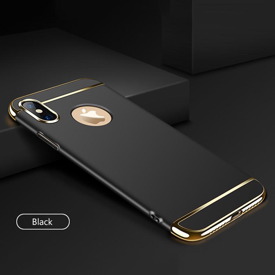 Чехол с золотыми вставками для iPhone X (2 Цвета)