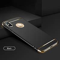Чехол с золотыми вставками для iPhone X (2 Цвета), фото 1