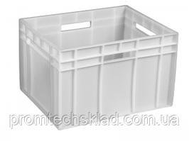 Ящик пластиковый 433*347*283 белый сплошной