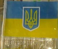 Флажок Украины с Гербом 20х30см