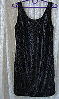 Платье маленькое черное в пайетках Vero Moda р.42-44 7727, фото 1