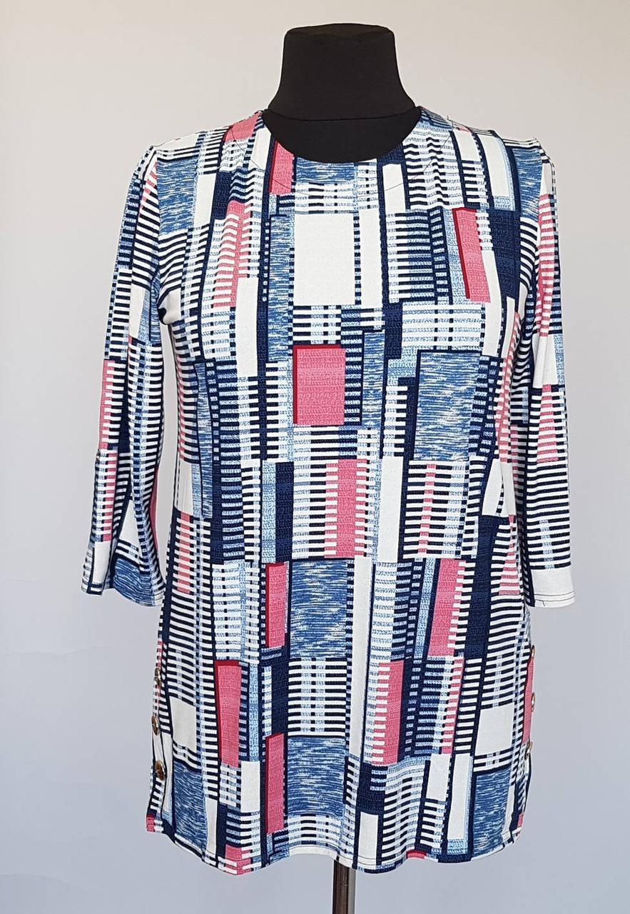 Свободная летняя блузка до 60 размера