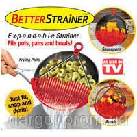 Дуршлаг-накладка (сито) для слива воды Better Straine, фото 1