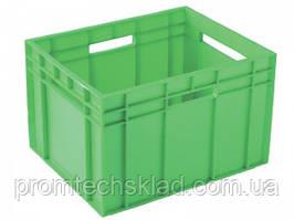 Ящик пластиковый  433*347*283 цветной сплошной