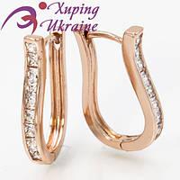Серьги Позолоченные Xuping «Блаженные V»