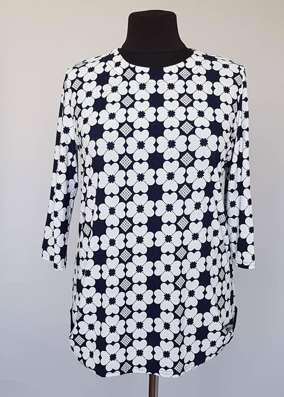 3012f26b320 Летняя блузка в принт белым цветочком   продажа