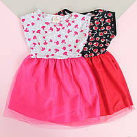 Детское платье Вишенки размер 3-4-7 лет