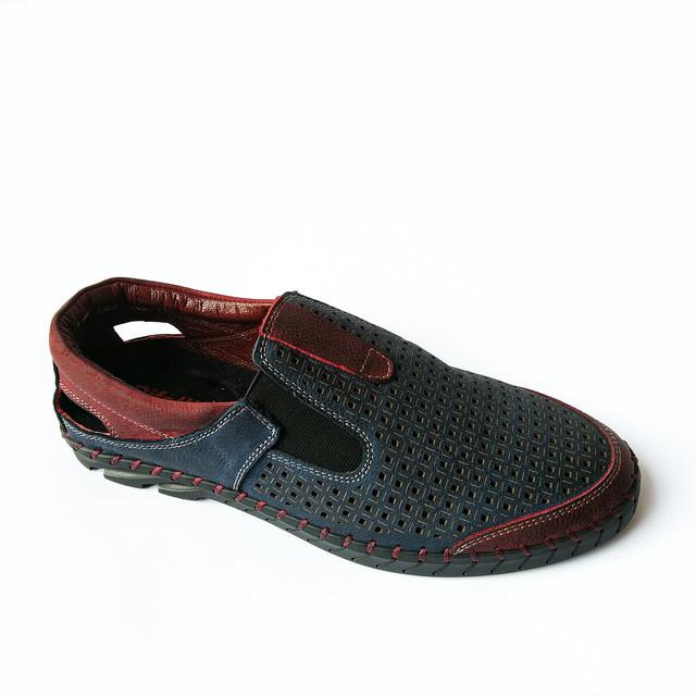 Кожаная мужская обувь производства Турции от rifellini летние мокасины, синего цвета, под ложку, повседневные