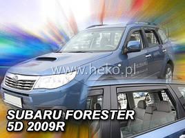 Дефлекторы окон (ветровики)   Subaru Forester 2008 -2013 4D 4шт(Heko)