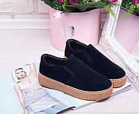 Кроссовки криперы Umi темно синие, женская обувь