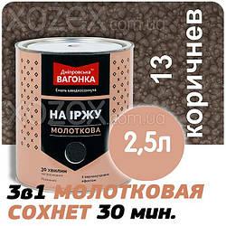 Дніпровська Вагонка Молоткова № 13 Коричнева -Емаль 2,5 лт