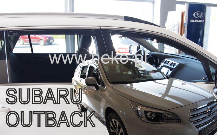 Дефлекторы окон (ветровики)  SUBARU OUTBACK 5d  2015r→(HEKO)