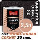 Днепровская Вагонка Молотковая № 33 Темно Коричневая -Эмаль 20лт, фото 3