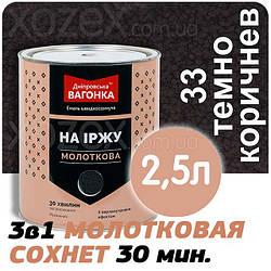 Дніпровська Вагонка Молоткова № 33 Темно Коричнева -Емаль 2,5 лт