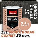 Дніпровська Вагонка Молоткова № 27 Темно-Сіра -Емаль 0,25 лт, фото 4