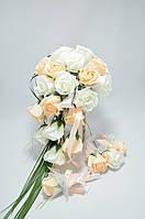 Цветы из мыла набор Свадебный комплект белый Композиция Soap Flowers Wedding Kit White