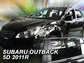 Дефлекторы окон (ветровики)  Subaru OUTBACK 2009 →(HEKO)