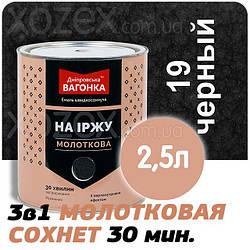 Дніпровська Вагонка Молоткова № 19 Чорна -Емаль 2,5 лт