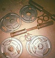 Гантели наборные олимпийские 50 мм (46 кг) бу