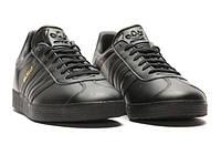 "Мужские Кроссовки Adidas Gazelle Leather ""Black"""