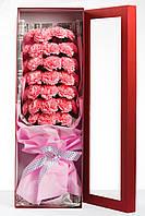 Цветы из мыла набор Розовая хризантема Композиция Soap Flowers Pink Crysanthemum