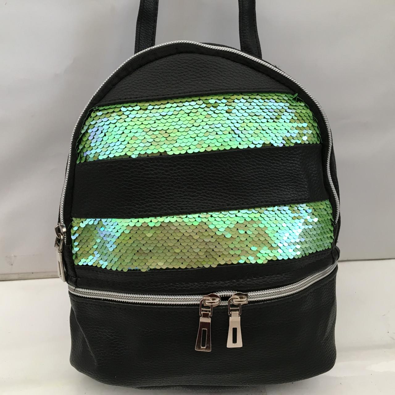 bf3890250e1d Рюкзак с паетками - (женская) сумка 2 в 1, эко-кожа\\Молодежный ...