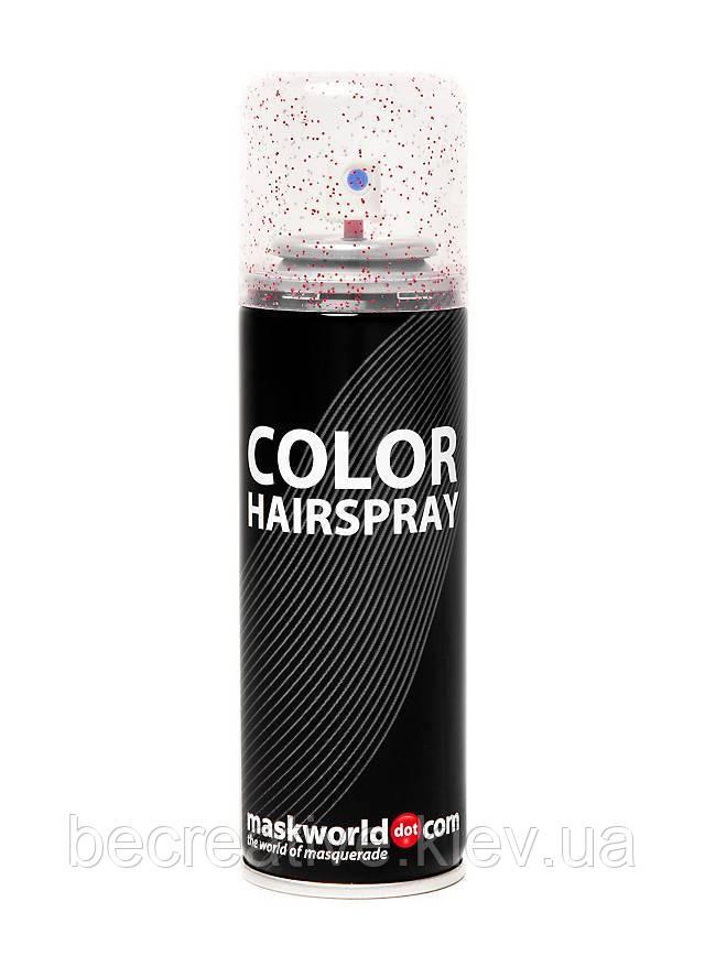 Глиттер-спрей с красными блесточками для волос, 125 мл