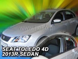 Дефлекторы окон (ветровики) Seat Toledo 2013-> 5D  4шт (Heko)