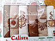 Набор вафельных кухонных полотенец 40*60 см, Calista 6 шт., Турция, фото 4