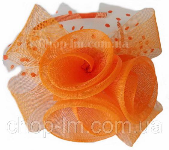 """Вуалетка """"Цветы"""" оранжевая"""