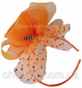 "Вуалетка ""Цветы"" оранжевая , фото 2"