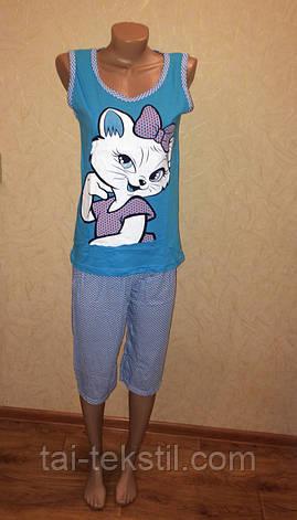 Асма пижама майка и бриджи хлопок разные цвета РАСПРОДАЖА, фото 2