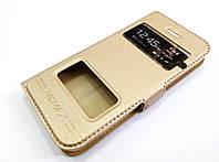 Чехол книжка с окошками momax для Apple iPhone 5c золотой
