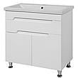 Комплект мебели для ванной комнаты Симпл-Белый 70-14-70-17-40-11 с зеркалом и пеналом ПИК, фото 2