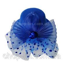 Шляпка с бантом синяя, фото 2