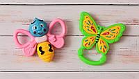 Погремушка для малышей  2шт. в пакете Бабочки