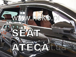 Дефлекторы окон (ветровики)  SEAT Ateca 5d 2016r→(HEKO)