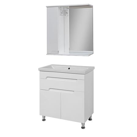 Комплект мебели для ванной комнаты Симпл-Белый 70-14-70-17 с зеркалом ПИК, фото 2