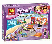 "Конструктор Bela Friends 10491 ""Скейт-парк"" (аналог LEGO Friends 41099), 202 детали"