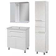 Комплект мебели для ванной комнаты Симпл-Белый 70-14-70-17-40-11 с зеркалом и пеналом ПИК