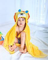 Детское полотенце с капюшоном Dream Towels Лев 76х92 Желтый (dm-1002)