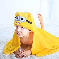 Детское полотенце с капюшоном Dream Towels Миньон 76х92 Желтый (dm-1003)