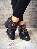 Классические кожаные туфельки на шнуровке 36-40 р