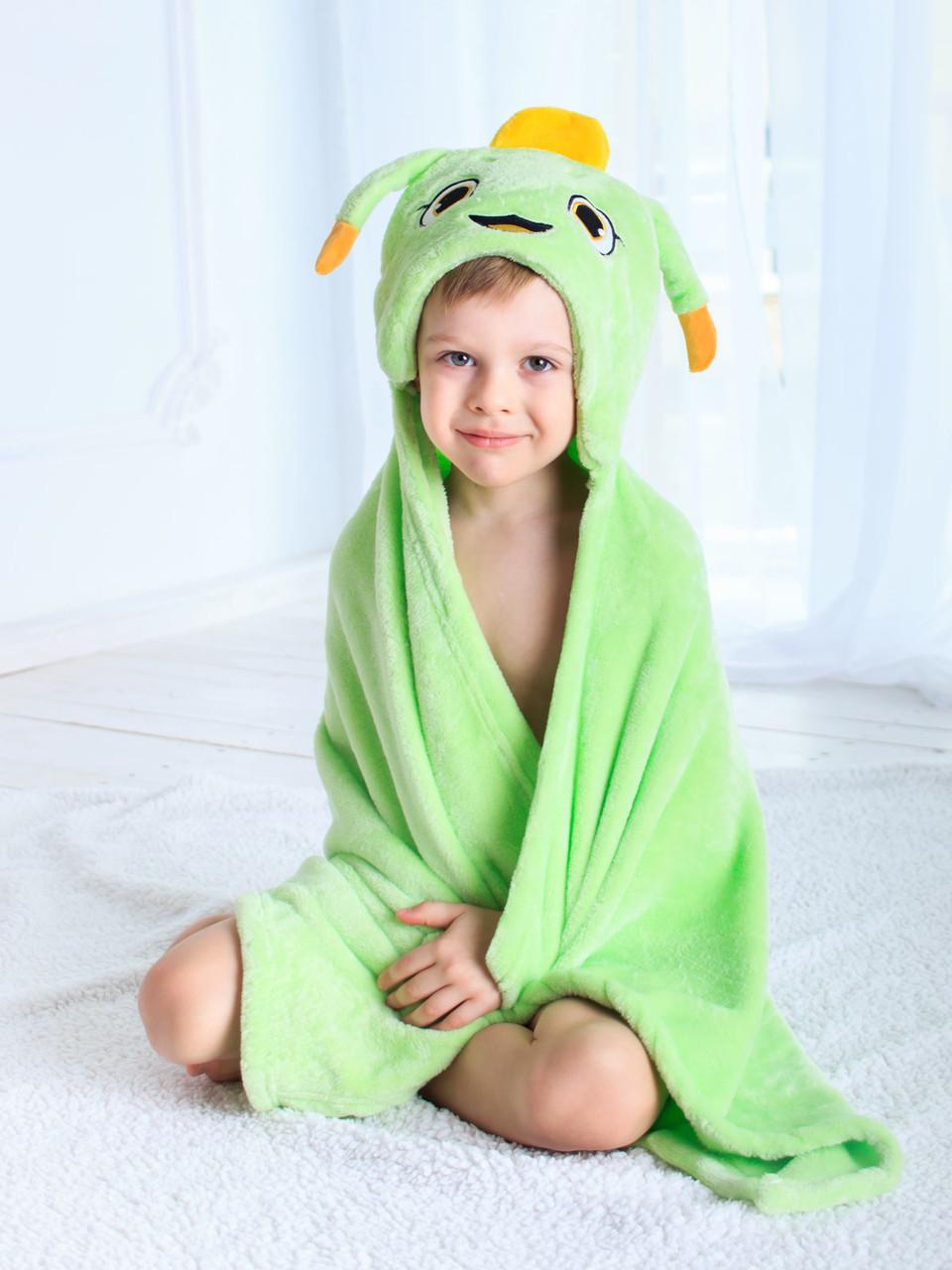 Детское полотенце с капюшоном Dream Towels Кузнечик 76х92 Салатовый (dm-1009)