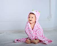 Детское полотенце с капюшоном Dream Towels Жирафчик 76х92 Розовый (dm-1012), фото 1