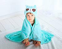 Детское полотенце с капюшоном Dream Towels Ленивец 76х92 Бирюзовый (dm-1016)