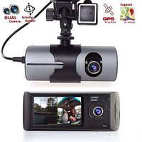 Автомобильный видеорегистратор R300 с модулем GPS двумя камерами