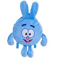 "Смешарики рюкзачок Смешарик Крош или ""Крошка зайчик"" 25 см, плюш, для садика и прогулок, 00199-4 Украина"